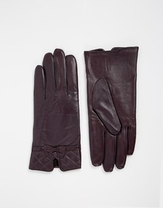 Кожаные перчатки со стегаными манжетами Totes - Фиолетовый