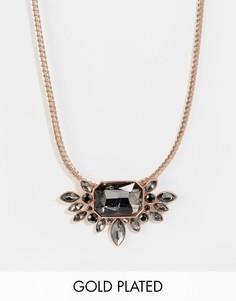 Броское золотисто-розовое ожерелье с камнями Pilgrim - Золотой