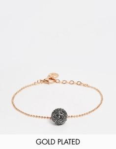 Позолоченный браслет с гематитовым шариком Pilgrim - Золотой