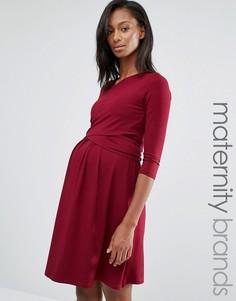 Isabella Oliver Wrap Front Mini Dress - Красный