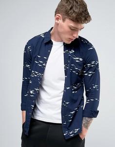 Рубашка с принтом самолетов G-Star Landoh - Темно-синий
