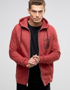 Красное худи на молнии с маленьким логотипом Nike 805134-674 - Красный