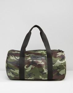 Стеганая сумка с камуфляжным принтом цвета хаки Heist - Зеленый