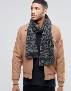 Черный меланжевый шарф Threadbare - Черный