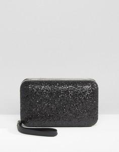 Клатч с блестками Carvela - Черный