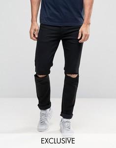 Черные рваные джинсы скинни Noak - Черный