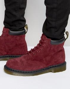 Замшевые ботинки с 6 парами люверсов Dr Martens 939 - Красный