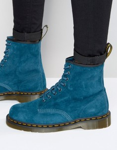 Замшевые ботинки с 8 парами люверсов Dr Martens 1460 - Синий
