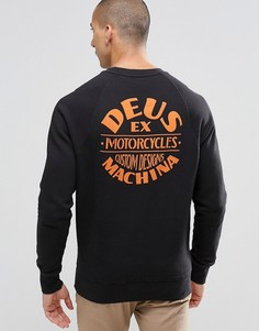 Свитшот с принтом на спине Deus Ex Machina - Черный