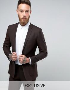 Пиджак зауженного кроя Number Eight Savile Row - Коричневый