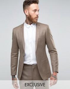Пиджак зауженного кроя Number Eight Savile Row - Бежевый