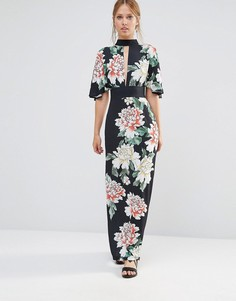 Платье макси с рукавами-кимоно Liquorish - Черный