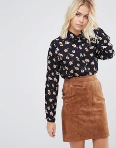 Блузка с цветочным принтом Goldie Olivia - Синий