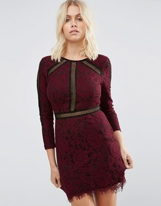 Платье с цветочным кружевом и декоративной отделкой Goldie Saving Grace - Красный