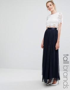 Тюлевая юбка макси True Decadence Tall - Кремовый