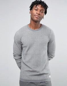 Трикотажный джемпер с круглым вырезом Selected Homme - Серый