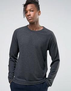 Лонгслив с рукавами реглан Selected Homme - Серый