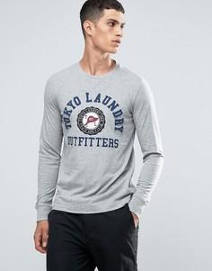 Лонгслив с круглым вырезом и логотипом Tokyo Laundry - Серый