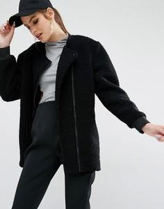 Осеннее пальто из ткани букле Kendall + Kylie - Черный