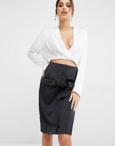Рубашка с асимметричным краем Kendall + Kylie Surplice - Белый