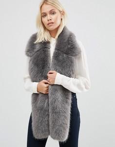 Меховой шарф Urbancode - Серый