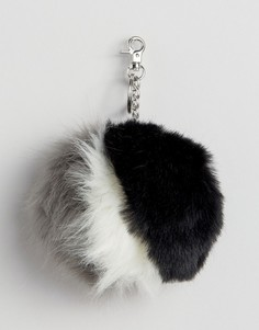Брелок с меховыми помпонами на сумку Urbancode - Черный
