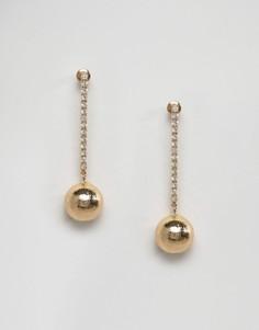 Блестящие серьги-подвески с шариками DesignB - Золотой