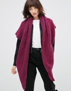 Треугольная кашемировая шаль Johnstons - Фиолетовый