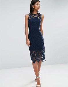 Платье миди кроше AX Paris - Темно-синий