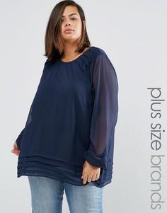 Блузка Junarose Plus Edina - Темно-синий