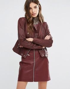 Кожаная куртка Y.A.S Nara - Розовый