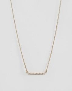 Позолоченное ожерелье с планкой Nylon - Золотой