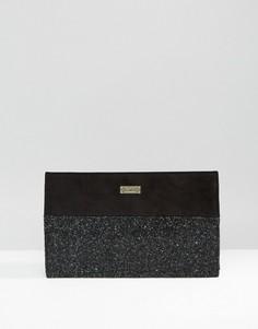 Клатч с блестящей вставкой в стиле минимализма Faith - Черный