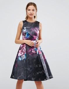 Короткое приталенное платье с принтом Coast - Мульти