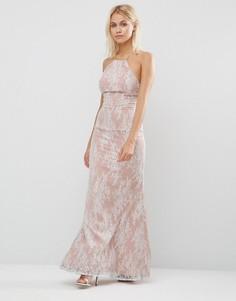 Кружевное платье макси без рукавов Jarlo Tiffany - Белый
