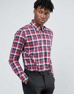 Деловая рубашка с узором в красную клетку Penguin - Красный