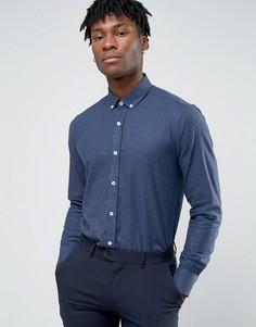 Деловая фланелевая рубашка Penguin - Темно-синий