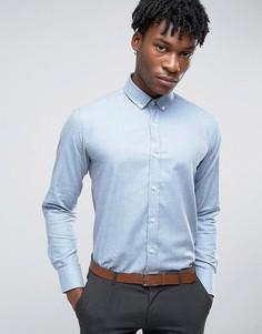 Деловая фланелевая рубашка Penguin - Синий