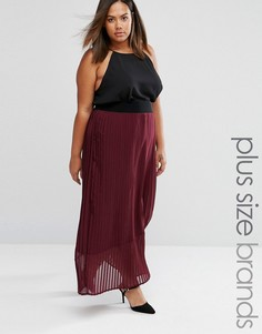Плиссированная юбка макси Elvi Plus - Красный
