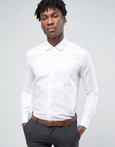 Белая строгая рубашка из ткани добби Penguin - Белый