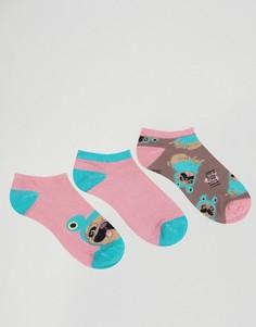 3 пары носков Chelsea Peers Frog Pug - Мульти