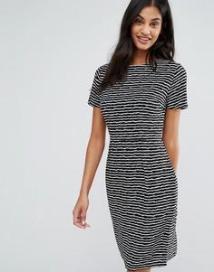 Цельнокройное платье в полоску Poppy Lux Orleans - Черный