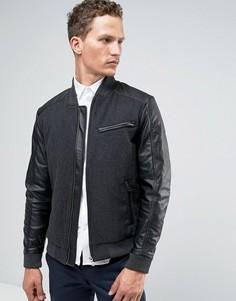 Шерстяная куртка-пилот Jack & Jones Premium - Серый