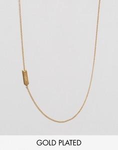 Асимметричное ожерелье с подвеской Овен Gorjana - Золотой