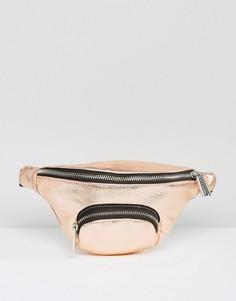 Золотисто-розовая сумка-пояс Skinnydip - Золотой