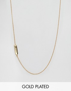Асимметричное ожерелье с подвеской Водолей Gorjana - Золотой