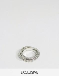 Серебристые кольца с узором DesignB London - Серебряный