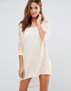 Oversize платье-рубашка Jasmine - Кремовый