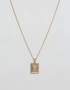 Золотистое ожерелье с подвеской Chained & Able - Золотой