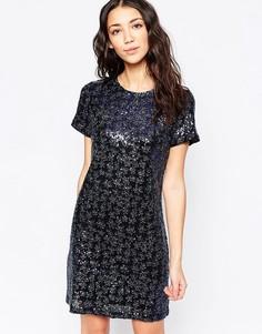 Платье с пайетками Sugarhill Boutique Emily - Синий